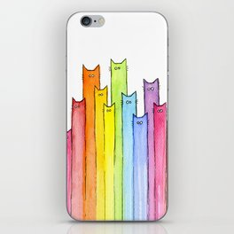 Rainbow of Cats Funny Whimsical Animals iPhone Skin
