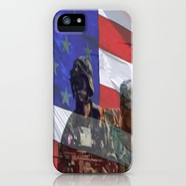 America the land of the Free. iPhone Case