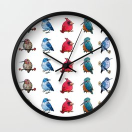 L'il Lard Butts - all the fat birds Wall Clock