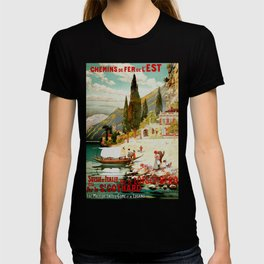Switzerland and Italy Via St. Gotthard Travel Poster T-shirt