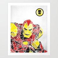 ironman Art Prints featuring Ironman by Josh Ln