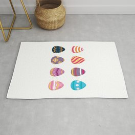 Colorful Easter Eggs Rug