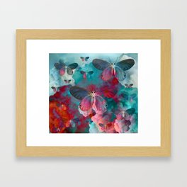 """Spring Butterfly love"" Framed Art Print"