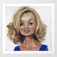 jessica lange Art Prints featuring Jessica Lange by Jared Hobson