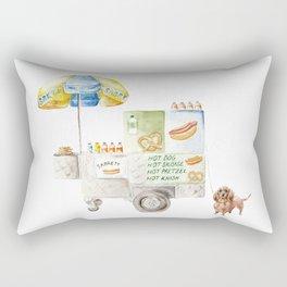 Hot Dog Truck Rectangular Pillow