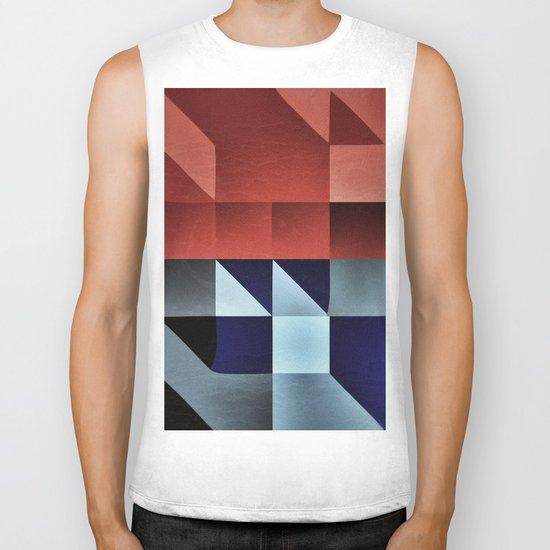 :: geometric maze IX :: Biker Tank