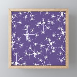 Floral Fireworks - Ultra Violet Botanical Pattern Framed Mini Art Print