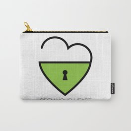 Open Your Heart Carry-All Pouch