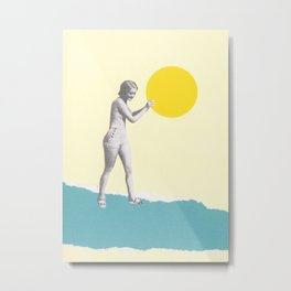 She Caught the Sun Metal Print