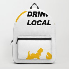 Michigan Drinking Team Beer Lovers Drink Local Backpack