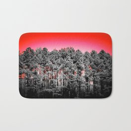 Gray Trees Candy Apple red Sky Bath Mat