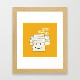 Printers and their feelings Framed Art Print