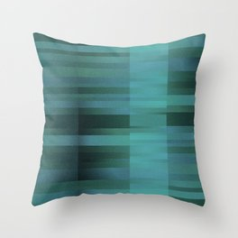 chicky blue abstract carpets Throw Pillow