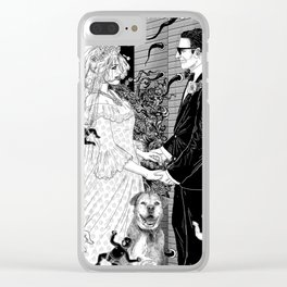 White Wedding Clear iPhone Case