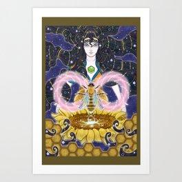 Pure Mother Bee Art Print