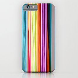 Rainbow colored striped abstract geometrical pattern iPhone Case