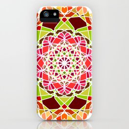 Traditional Mandala with Ornamental Pattern. iPhone Case