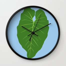 "Tropical ""Elephant Ear"" Leaf Wall Clock"