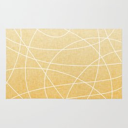 Scribble Linen - Sunflower Yellow Rug