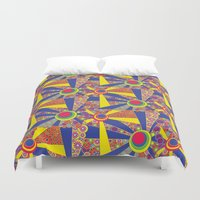 hippy Duvet Covers featuring Hippy Sun  by MinaSparklina