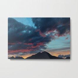 Dreamy Mountain Sunset Metal Print