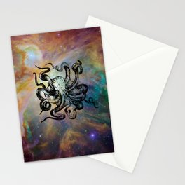 Octopus in Space Stationery Cards