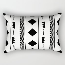 Southwestern White Rectangular Pillow