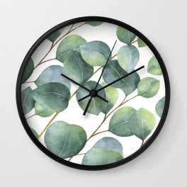Eucalyptus pattern Wall Clock