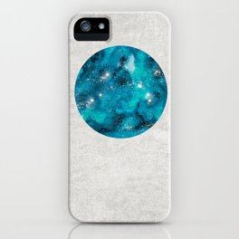Aries zodiac constellation on the light background iPhone Case