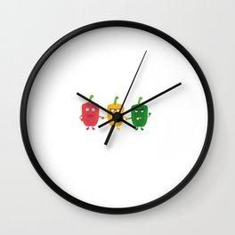 Three Capsicums Wall Clock