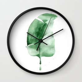 Banana Leaf no. 1 Wall Clock