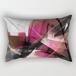 Echoes of Expansion - Geometric Abstract Art Rectangular Pillow
