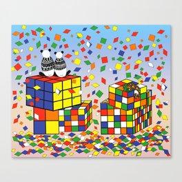 Rubix Panda Canvas Print