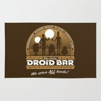 bar Area & Throw Rugs featuring Droid Bar by Doodle Dojo