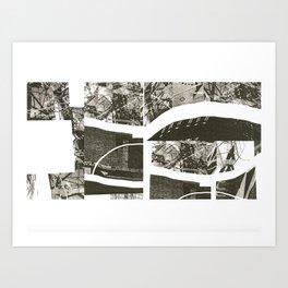 Deconstructed Bridges Art Print