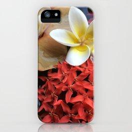 Frangipani & Ixora iPhone Case