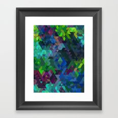 Soft Mini Triangles Framed Art Print