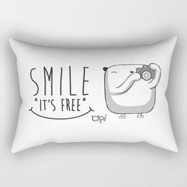 "Opi Sonrie ""Es gratis"" Rectangular Pillow"