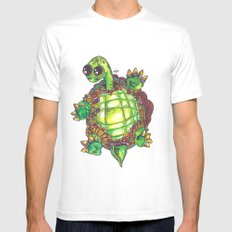 Turtle Mens Fitted Tee White MEDIUM