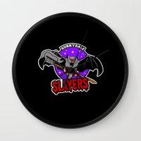 buffy Wall Clocks featuring  Slayers by Buby87
