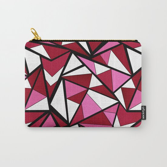 Abstract geometric triangles pattern . 6 Carry-All Pouch