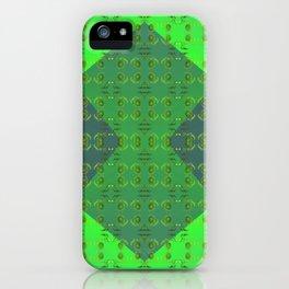 Light-green-pattern iPhone Case