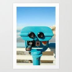 Beach Viewer Binoculars Art Print