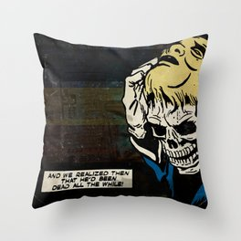 Dead All the While Throw Pillow