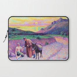 12,000pixel-500dpi - Maximilien Luce - The Kind Samaritan - Digital Remastered Edition Laptop Sleeve