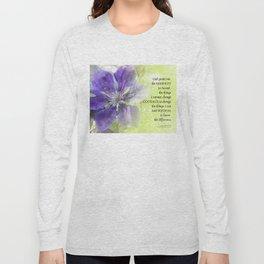 Serenity Prayer Clematis Purple Green Long Sleeve T-shirt