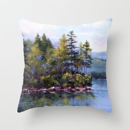 Reflecting Pines Throw Pillow