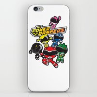 power rangers iPhone & iPod Skins featuring Power Rangers  by Dik Low