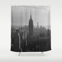 nyc Shower Curtains featuring NYC by Horizon Studio