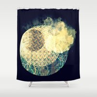 atlas Shower Curtains featuring Atlas Planet by Jasmine Smith